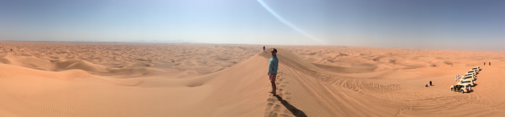 The dunes at the Conservation Area, part of Al Maha's activities