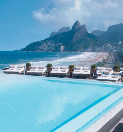 Brazil's most famous swimming pool at Fasano in Rio – image from hotel's website