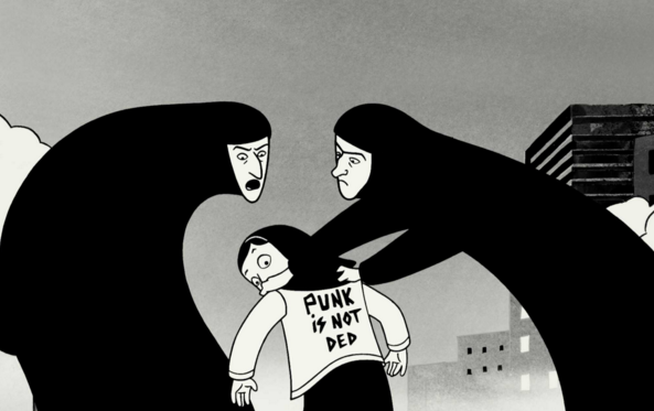 The State started controlling what people were wearing after the Revolution – Persepolis by Marjane Satrapi