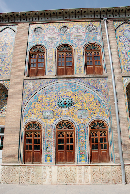 The Palace has a vast collection of tilework, all painted differently, full of colors!