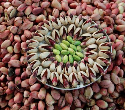 Assortment of pistachios at the Grand Bazaar