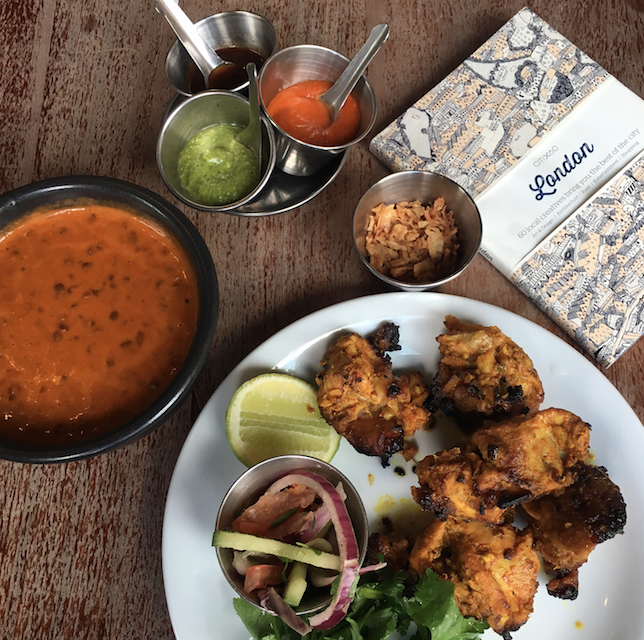Black Dal and Chicken Tikka at Dishoom Shoreditch