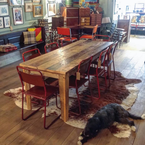 Reclaimed Victorian pine dining table made to order at Lassco on Lassco's Instagram