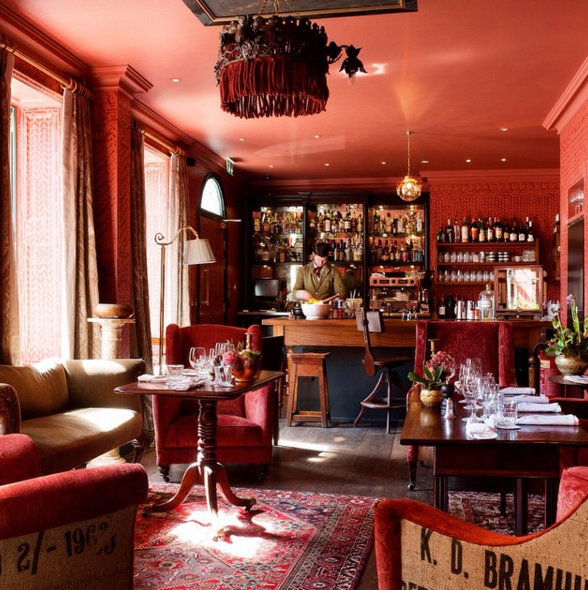 Image from Zetter Hotel's Instagram – this is the cocktail lounge at the Zetter Townhouse in Clerkenwell