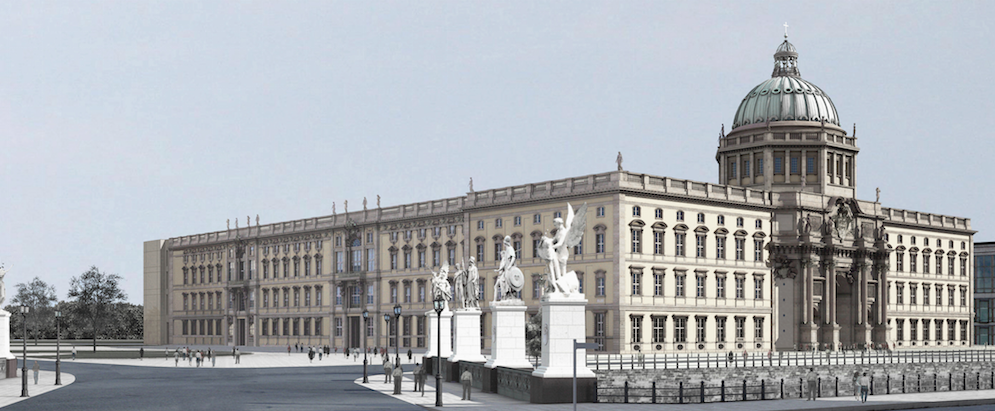View of the Berlin Palace from the northwest side © Berlin Palace–Humboldtforum Foundation / Franco Stella