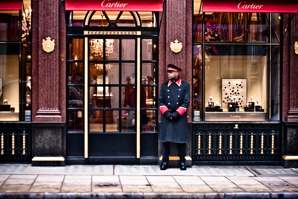 Cartier jewellers in London's New Bond Street. Image by Garry Knight via Flickr. CC license 2.0 generic.