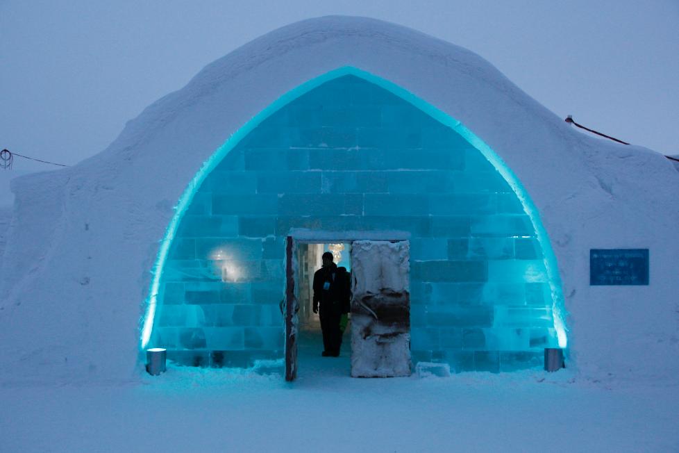 Ice Hotel's main entrance