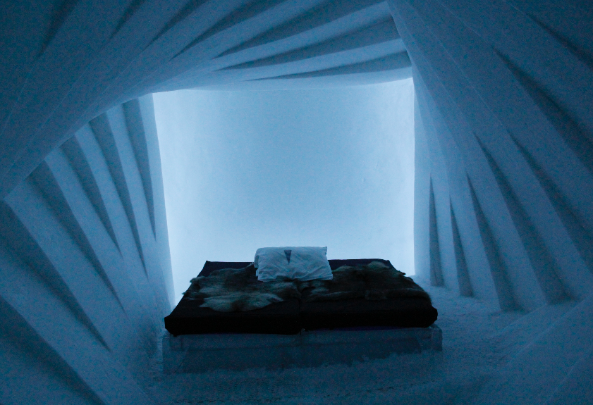 A room at the Ice Hotel in Kiruna, Sweden