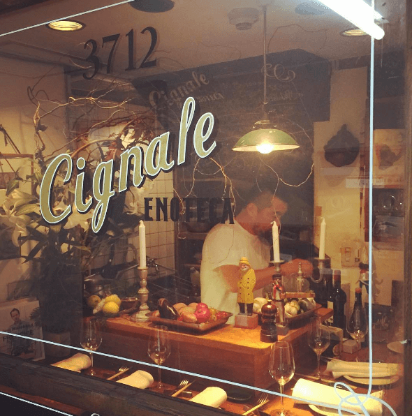 Image from Cignale Enoteca's Instagram
