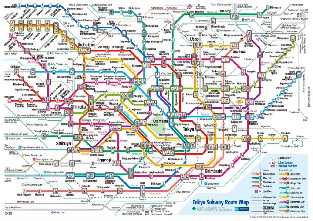 Tokyo Metro Map from Tokyo Metro's website