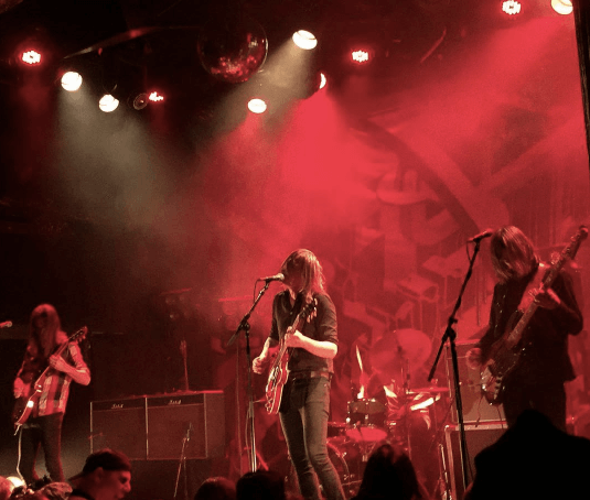 Image of a Graveyardmusic concert from Bowery Ballroom on Instagram